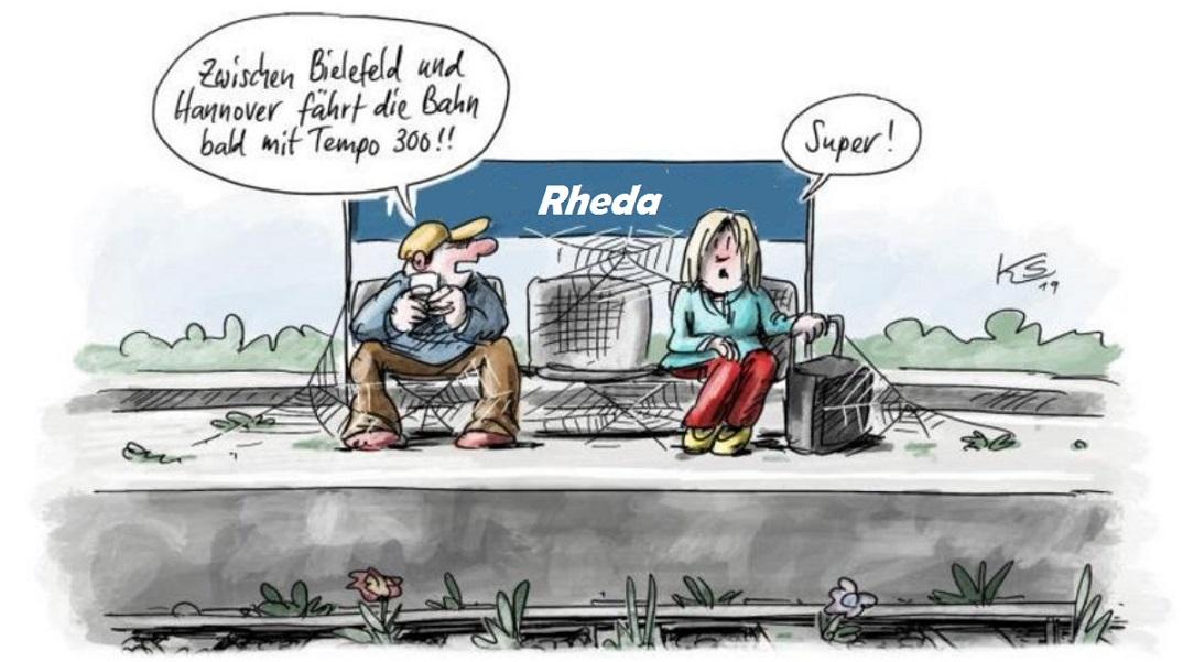 Rheda Bahnhof...